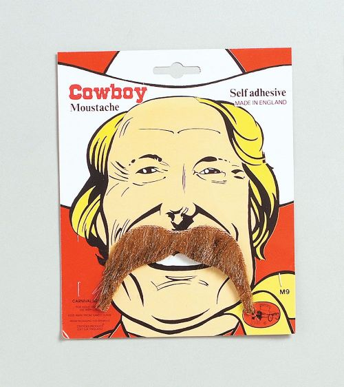 Cowboy Tash American Wild West & Red Indians Fancy Dress Accessory